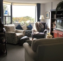 Living room of a one-bedroom suite