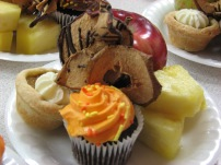 An event plate: fruit and fun nibbles