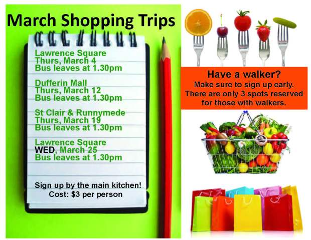 March shopping trips