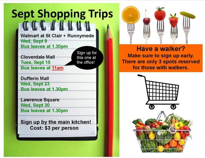 Sept shopping