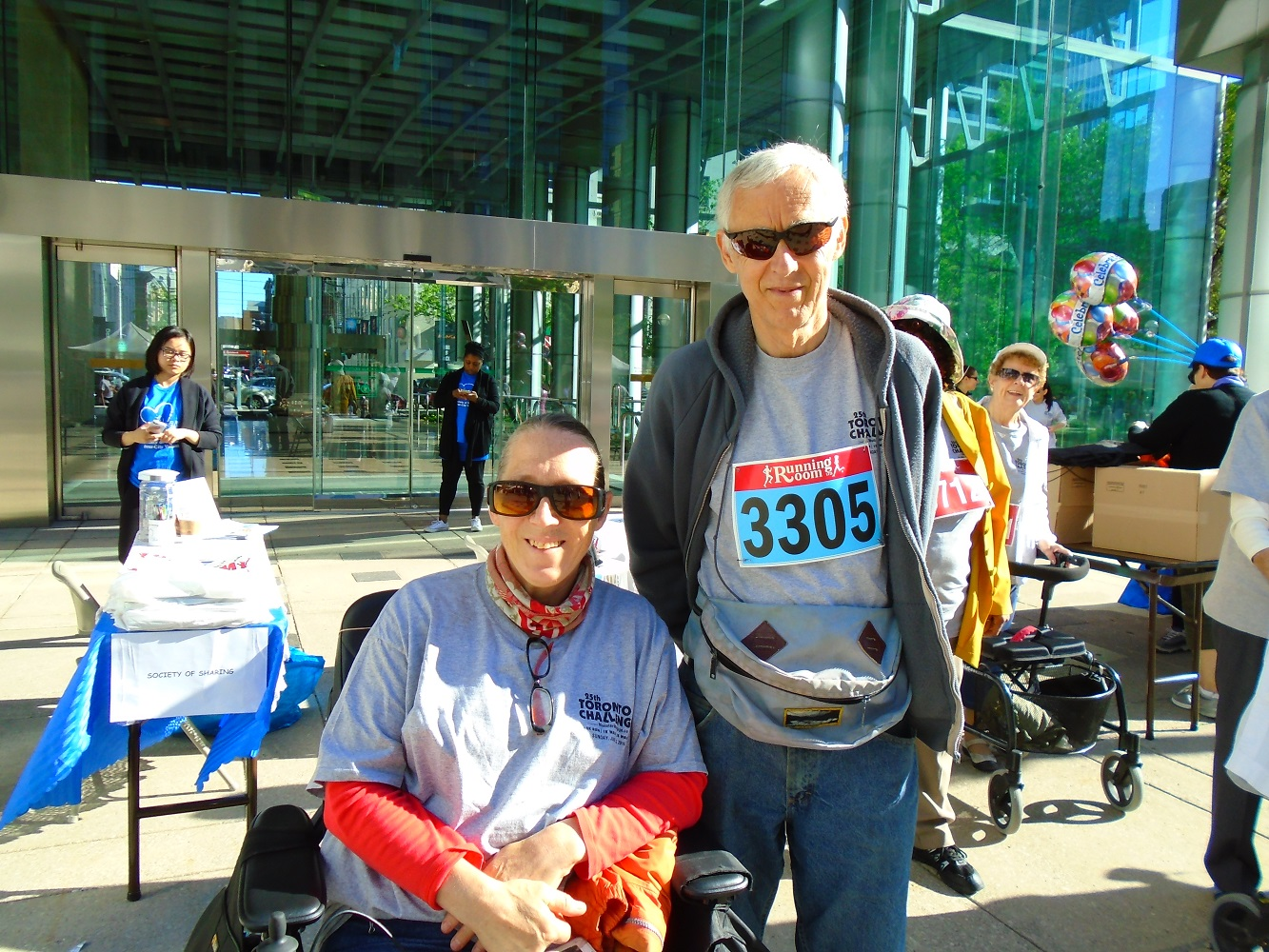 Two of our 5K walkers - TOChallenge 2016