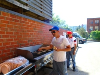 Carlos and Santiago man the grill
