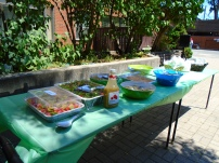 The salad table...an impressive spread