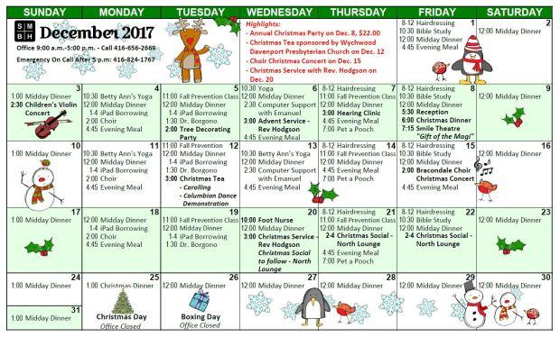 0 December Calendar 2017