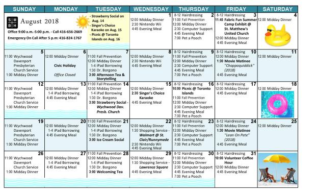 Aug activities-revised