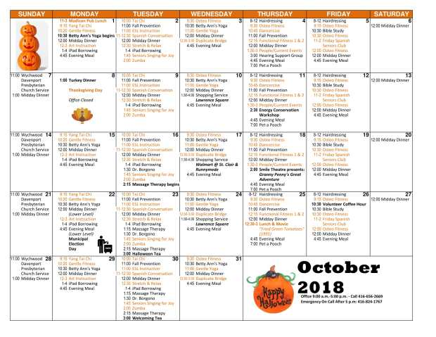 Oct cal activities revised-1